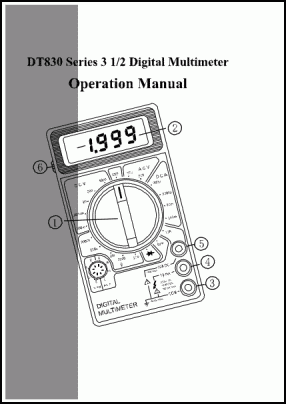 _Others Digital Multimeter DT830 User's Manual