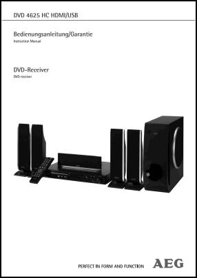 AEG DVD 4625 HC User's Manual