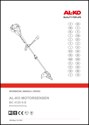 Al-Ko BC 4125 II-S User's Manual