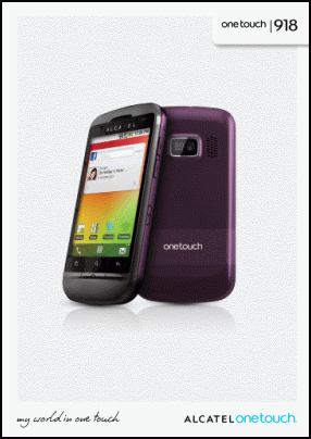Alcatel OneTouch 918 User's Manual