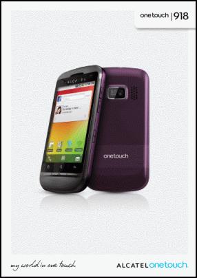 Alcatel OneTouch 918 Руководство пользователя