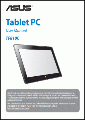 ASUS TF810C User's Manual