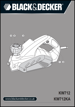 Black And Decker KW712, KW712KA Operator's Manual