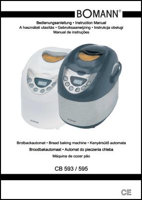 Bomann CB 593, CB 595 Инструкция пользователя