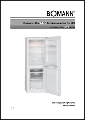 Bomann KG 320 User's Manual