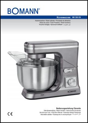 Bomann KM 1393 CB Manual del Usuario