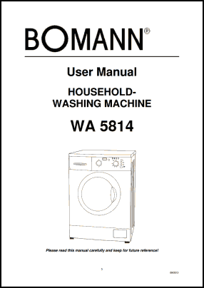 Bomann WA 5814 User's Manual
