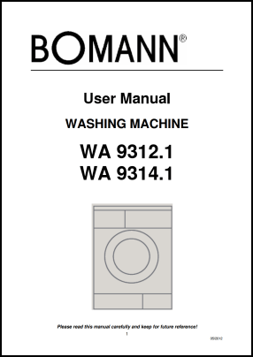 Bomann WA 9312, WA 9314 User's Manual