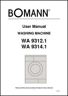 Bomann WA 9312, WA 9314 Руководство пользователя
