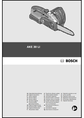 Bosch AKE 30 LI User's Manual