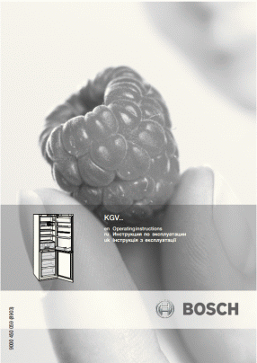 Bosch KGE39AW30R User's Manual