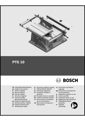 Bosch PTS 10 User's Manual