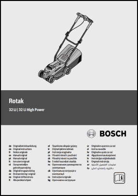 Bosch Rotak 32 LI High Power User's Manual