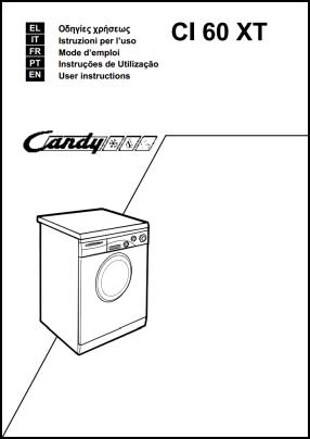 Candy CI 60 XT Manual del Usuario