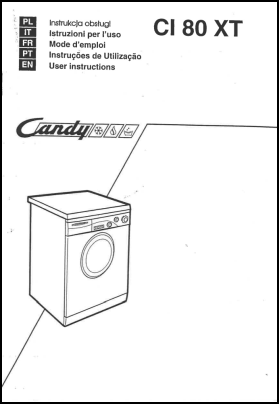 Candy CI 80 XT Manual del Usuario