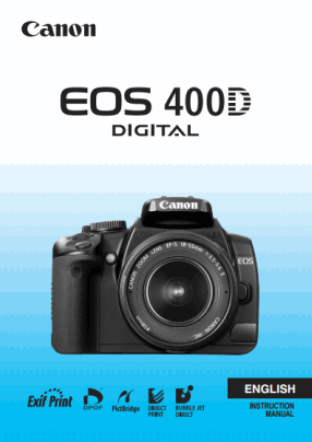 Canon EOS 400D User's Manual