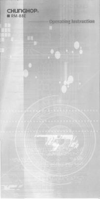 Chunghop RM-88E User's Manual + Code List