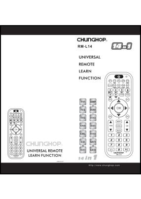Chunghop RM-L14 User's Manual + Code List