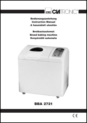 Clatronic BBA 2721 Manual del Usuario