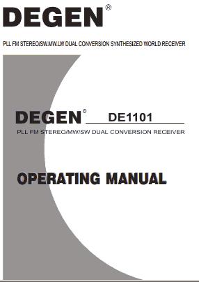 Degen DE1101 Руководство пользователя