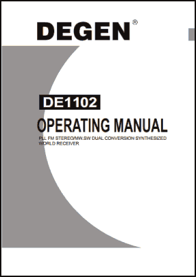 Degen DE1102 Руководство пользователя