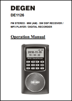 Degen DE1126 User's Manual
