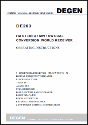 Degen DE203 User's Manual