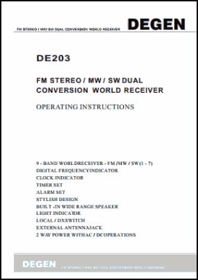 Degen DE203 Руководство пользователя