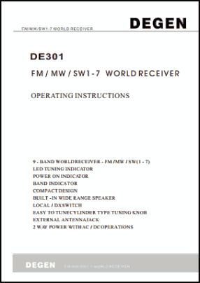 Degen DE301 Руководство пользователя