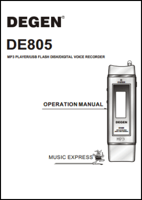 Degen DE805 User's Manual