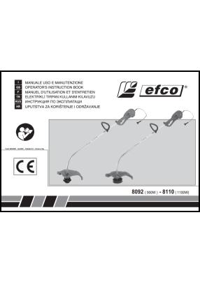Efco 8092, 8110 User's manual