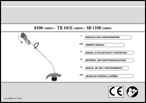 Efco 8100, TR 101E, SB 1100 User's Manual