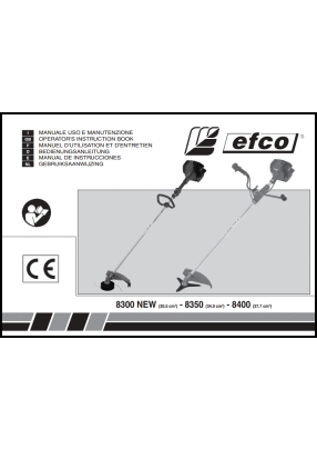 Efco 8300, 8350, 8400 User's Manual