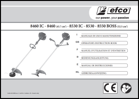 Efco 8460, 8530, 8550 BOSS User's Manual