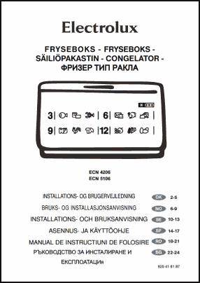 Electrolux ECN 4206, ECN 5106 User's Manual