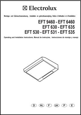 Electrolux EFT 9460, EFT 6460, EFT 630, EFT 635, EFT 530, EFT 531, EFT 535  Руководство пользователя