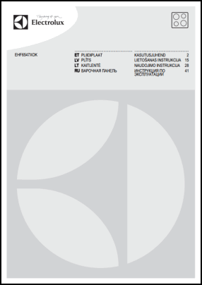 Electrolux EHF6547XOK User's Manual