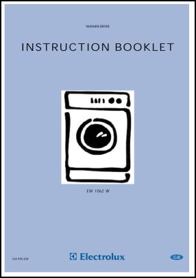 Electrolux EW 1062 W User's Manual