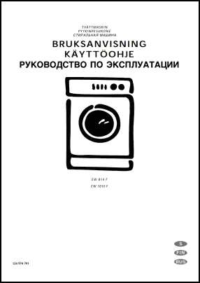 Electrolux EW 814 F, EW 1010 F User's Manual