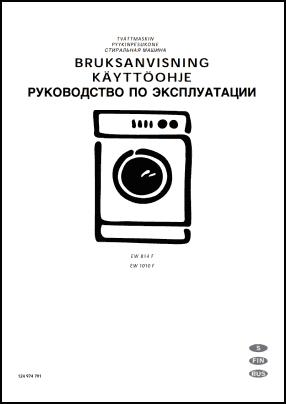Electrolux EW 814 F, EW 1010 F Руководство пользователя