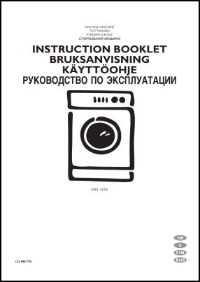 Electrolux EWS 1020 User's Manual