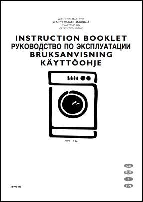 Electrolux EWS 1046 User's Manual