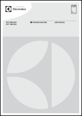 Electrolux EWT 0866 EEW, EWT 1066 EEW User's Manual