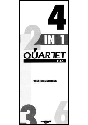 Fox QuartetPlus F818L Руководство пользователя