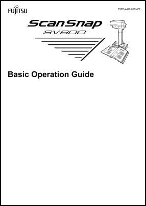 Fujitsu ScanSnap SV600 User's Manual