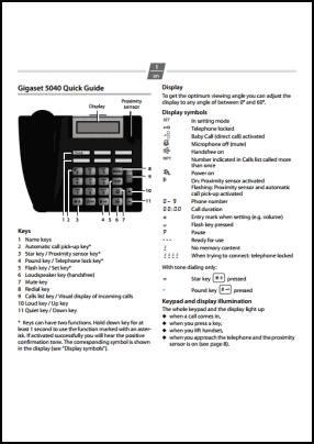 Gigaset 5040 User's Manual