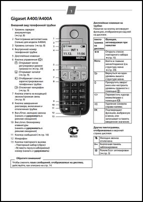 Gigaset A400, A400A Руководство пользователя
