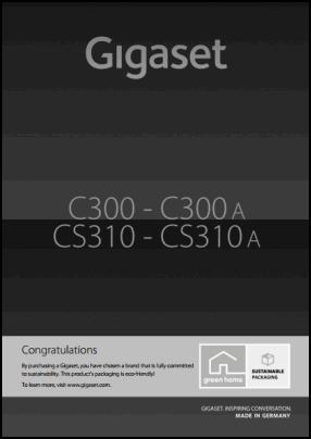 Gigaset C300, CS310 User's Manual
