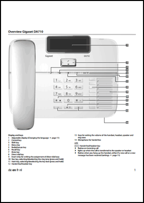 Gigaset DA710 User's Manual