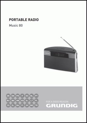 Grundig Music 80 User's Manual